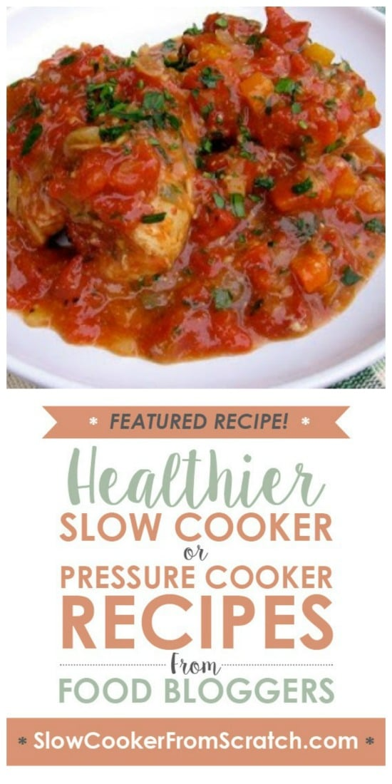 Slow Cooker Chicken Thighs Osso Buco from Simple Nourished Living featured on Slow Cooker or Pressure Cooker at SlowCookerFromScratch.com