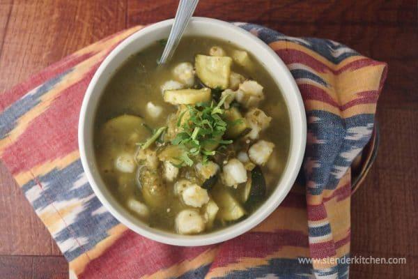 Slow Cooker Vegetarian Pozole from Slender Kitchen