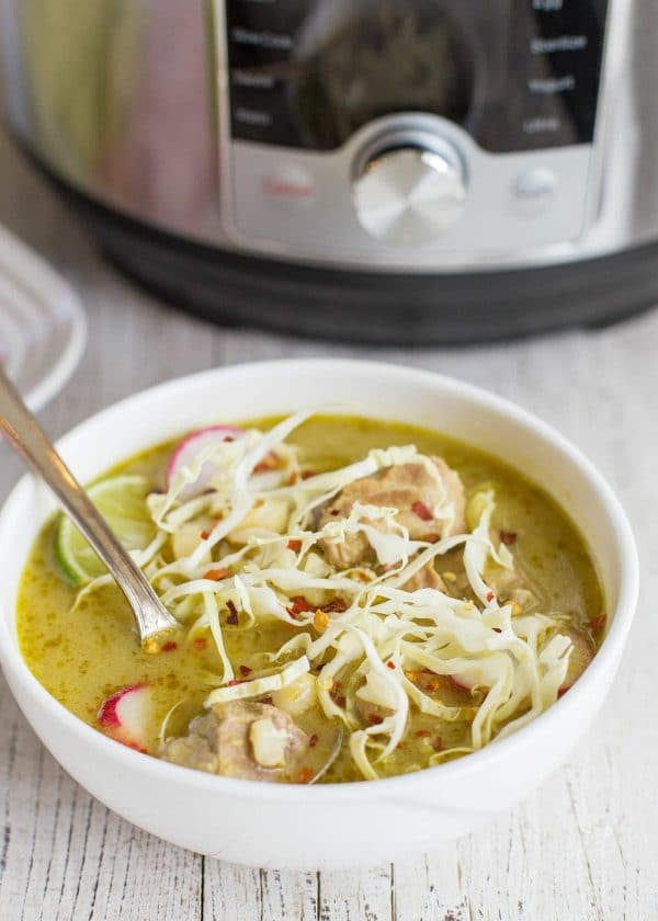 Pressure Cooker Green Pork Pozole from Simply Recipes