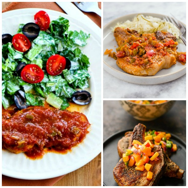 Three Tasty Recipes for Salsa Pork Chops featured on Slow Cooker or Pressure Cooker at SlowCookerFromScratch.com