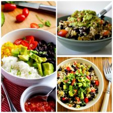 Three Amazing Recipes for Vegetarian Mexican Bowls found on Slow Cooker or Pressure Cooker at SlowCookerFromScratch.com