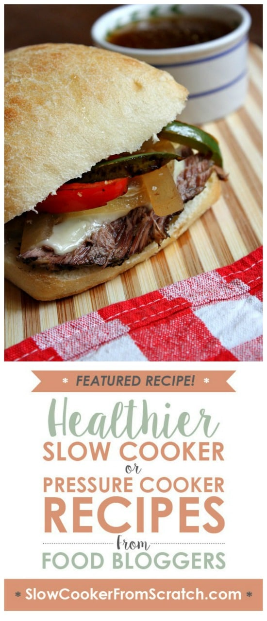 Slow Cooker French Dip Sandwiches from Recipe Girl featured on Slow Cooker or Pressure Cooker at SlowCookerFromScratch.com