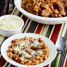 Italian Sausage and White Beans with Sage from Kalyn's Kitchen (Instant Pot or Slow Cooker) found on Slow Cooker or Pressure Cooker at SlowCookerFromScratch.com