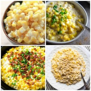 Four Fabulous Recipes for Creamed Corn for Thanksgiving (Slow Cooker or Pressure Cooker) featured on Slow Cooker or Pressure Cooker at SlowCookerFromScratch.com