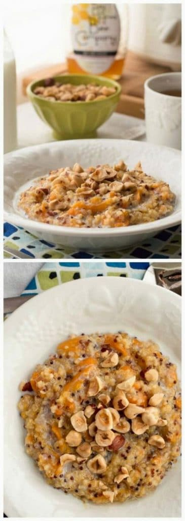 Slow Cooker Overnight Oatmeal with Honey and Fruit from The Kitchn featured on SlowCookerFromScratch.com