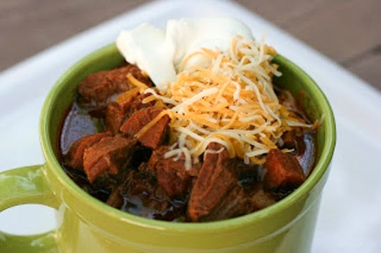 Slow Cooker Meat Lover's No-Bean Chili from A Year of Slow Cooking found on SlowCookerFromScratch.com