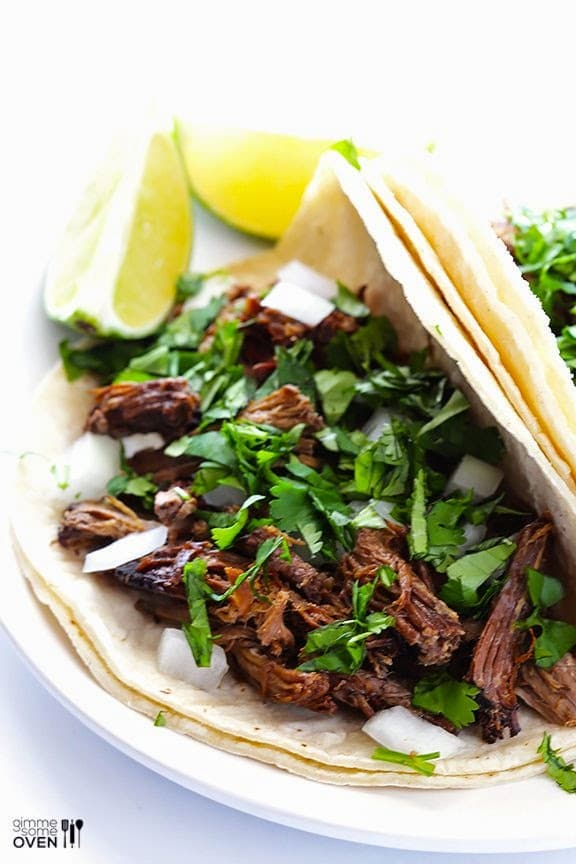 Slow Cooker Barbacoa Beef from Gimme Some Oven found on SlowCookerFromScratch.com