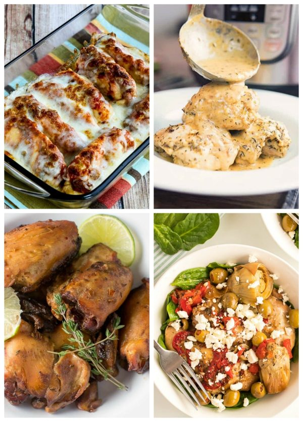Four Fun Ideas for Low-Carb Chicken Dinners (Slow Cooker or Instant Pot)