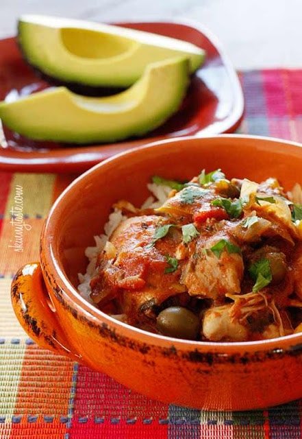 Crock Pot Chicken a la Criolla from Skinnytaste found on SlowCookerFromScratch.com