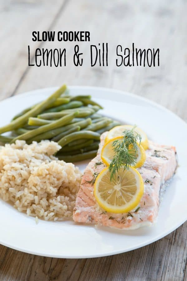 Slow Cooker Lemon and Dill Salmon from $5 Dinners