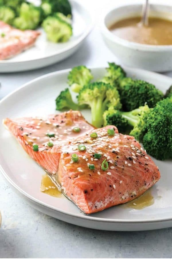 Instant Pot Salmon and Broccoli from Instant Pot Eats