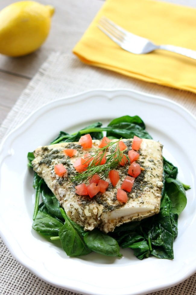 Slow Cooker Lemon Dill Halibut from 365 Days of Slow + Pressure Cooking