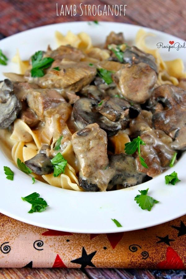 Slow Cooker Lamb Stroganoff from Recipe Girl found on Slow Cooker or Pressure Cooker at SlowCookerFromScratch.com