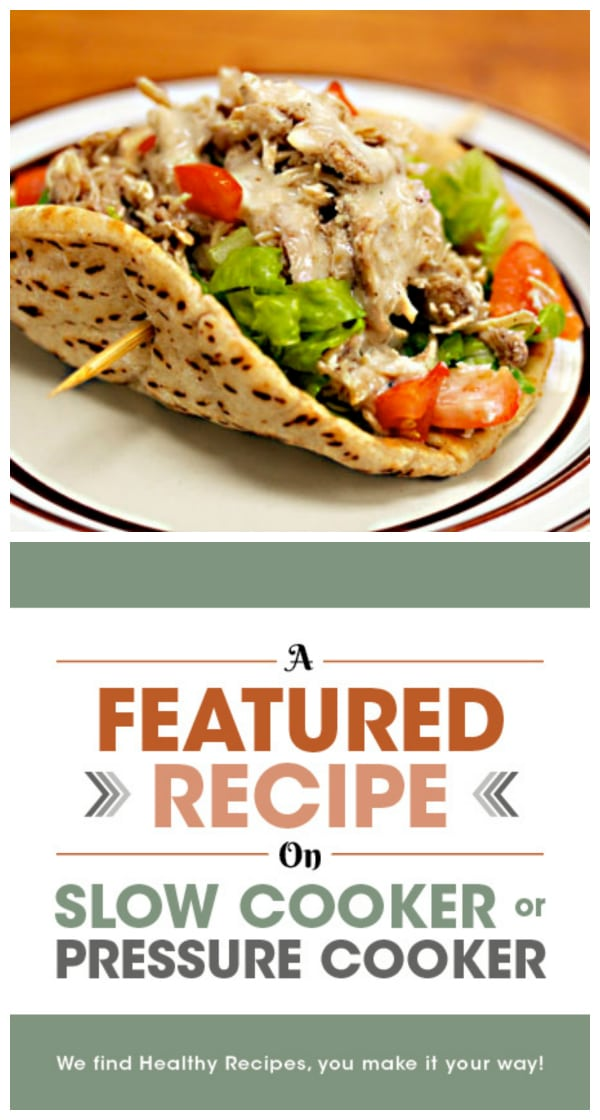 Slow Cooker Middle Eastern Garlic Chicken from The Perfect Pantry featured on Slow Cooker or Pressure Cooker