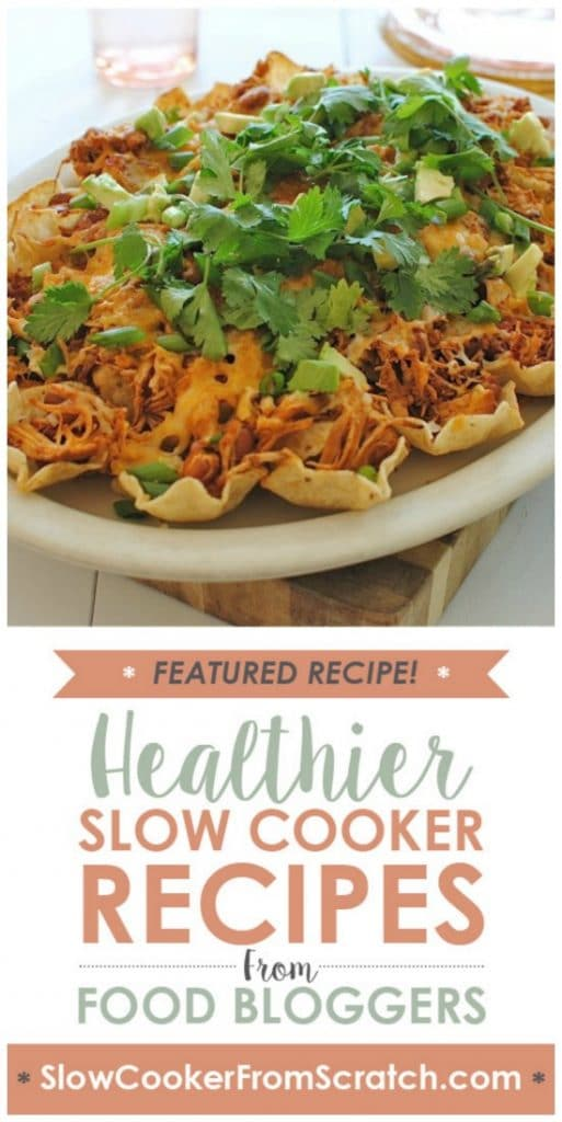 Slow Cooker Chicken Nachos with Pinto Beans from Bev Cooks found on SlowCookerFromScratch.com