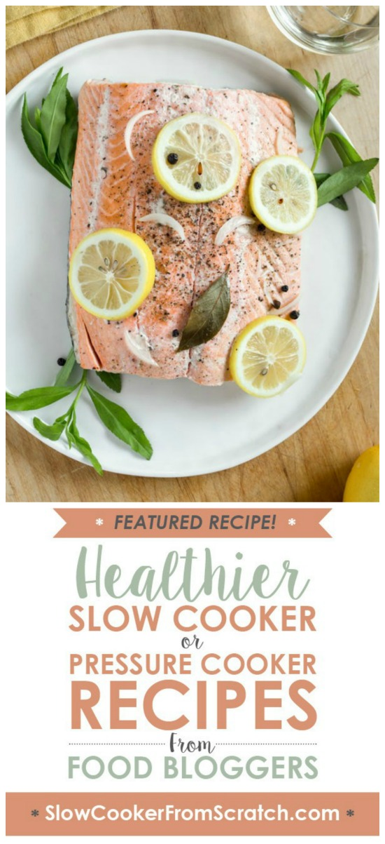 Slow Cooker Poached Salmon from The Kitchn featured on Slow Cooker or Pressure Cooker at SlowCookerFromScratch.com