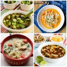Four Creative Chicken Soup Recipes (Slow Cooker or Instant Pot) collage photo