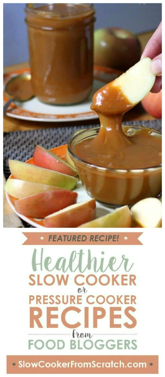Slow Cooker Caramel Sauce from The Yummy Life featured on Slow Cooker or Pressure Cooker at SlowCookerFromScratch.com