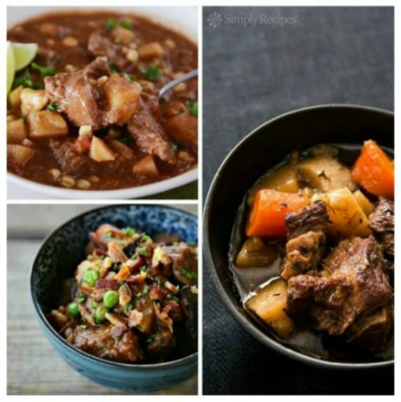 35 AMAZING Recipes for Slow Cooker Beef Stew featured on Slow Cooker or Pressure Cooker at SlowCookerFromScratch.com