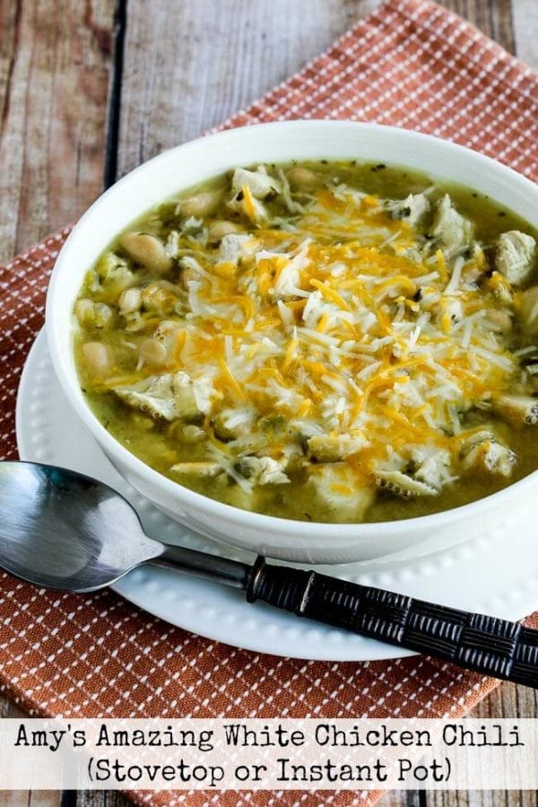 Amy's Amazing White Chicken Chili from Kalyn's Kitchen