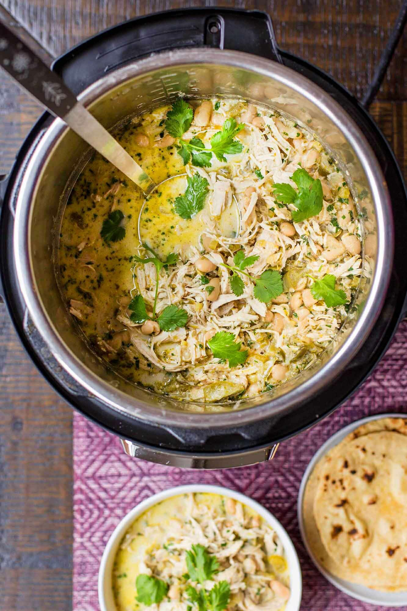 Instant Pot White Chicken Chili from Simply Recipes