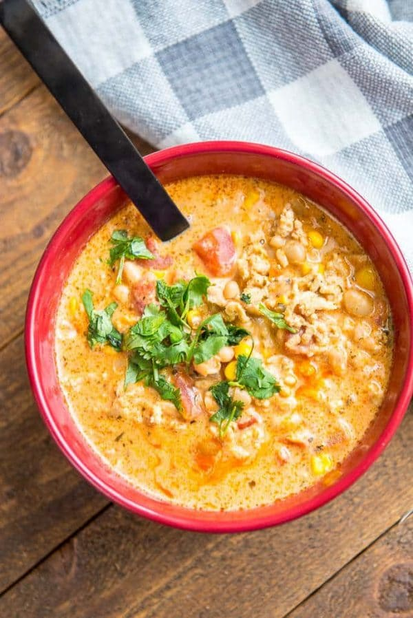 Slow Cooker Buffalo Chicken Chili from Slow Cooker Gourmet