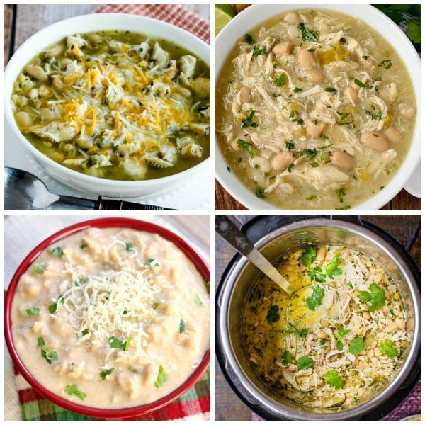 Slow Cooker and Instant Pot White Bean Chili Recipes top photo collage