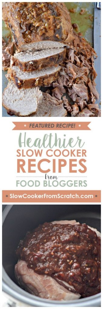 Sweet And Savory Slow Cooker Pork Roast from Mountain Mama Cooks featured on SlowCookerFromScratch.com