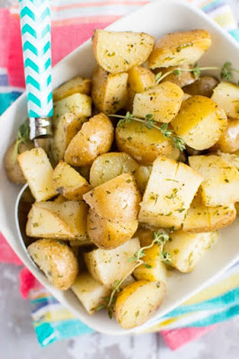 Slow Cooker Ranch Potatoes from Slow Cooker Gourmet featured on SlowCookerFromScratch.com