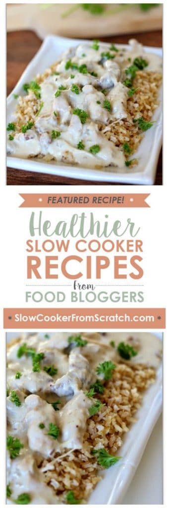 Slow Cooker Creamy Chicken And Sausage from 365 Days Of Slow Cooking featured on SlowCookerFromScratch.com