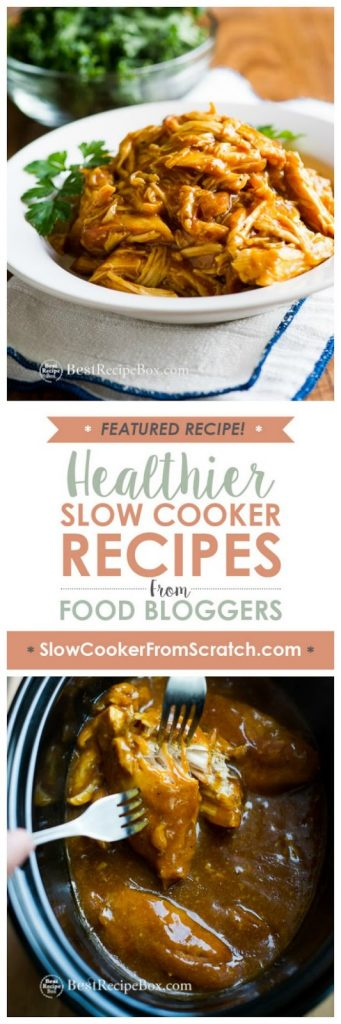 Slow Cooker Honey Mustard Chicken from Best Recipe Box featured on SlowCookerFromScratch.com
