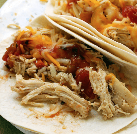 Slow Cooker Shredded Barbecued Chicken from The Perfect Pantry featured on Slow Cooker or Pressure Cooker at SlowCookerFromScratch.com