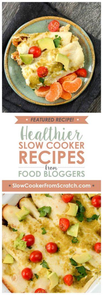 Casserole Crock Saturdays: Slow Cooker Breakfast Enchiladas from Slow Cooker Gourmet featured on SlowCookerFromScratch.com