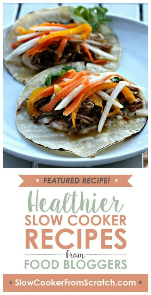 Slow Cooker Cuban Pork for Tacos or Sandwiches from Elly Says Opa [featured on SlowCookerFromScratch]