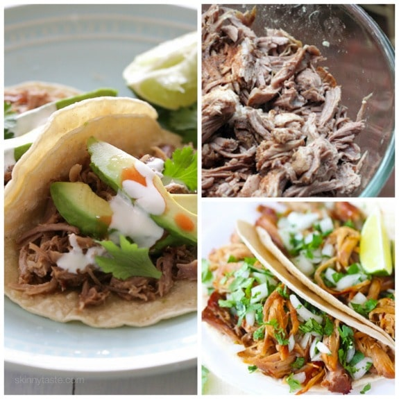 The BEST Slow Cooker Pork Carnitas from Food Bloggers featured on Slow Cooker or Pressure Cooker at SlowCookerFromScratch.com