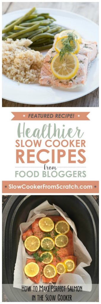 Slow Cooker Lemon & Dill Salmon from 5 Dollar Dinners featured on SlowCookerFromScratch.com