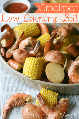 CrockPot Low Country Boil from Family Fresh Meals featured on Slow Cooker or Pressure Cooker at SlowCookerFromScratch.com