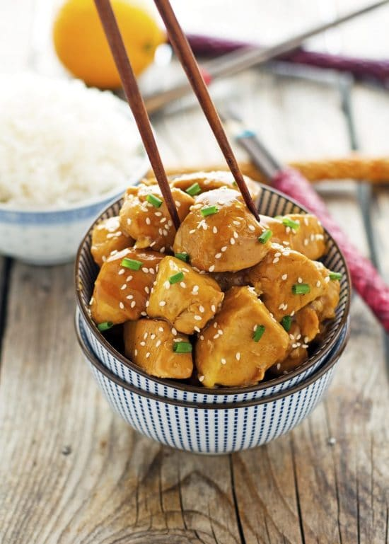 Easy Crock Pot Orange Chicken from The Iron You featured in Four Fabulous Orange Chicken Recipes Your Family Will Love