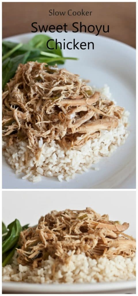 Slow Cooker Sweet Shoyu Chicken from Sweet Treats and More found on SlowCookerFromScratch.com