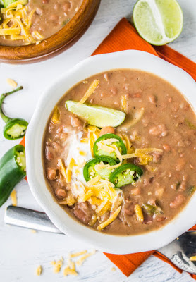 Slow Cooker Traditional Tejano Pinto Beans from The Food Charlatan featured on Slow Cooker or Pressure Cooker at SlowCookerFromScratch.com