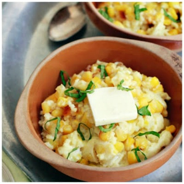 Slow Cooker Corn Pudding from The Kitchn featured on Slow Cooker or Pressure Cooker at SlowCookerFromScratch.com