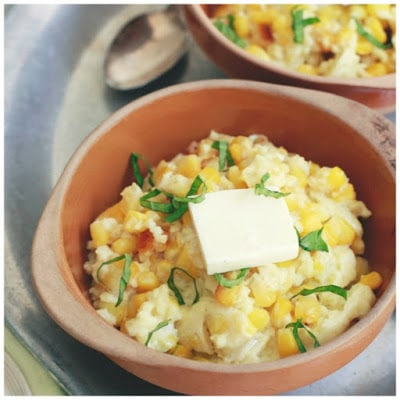 Slow Cooker Corn Pudding from The Kitchn featured on SlowCookerFromScratch.com