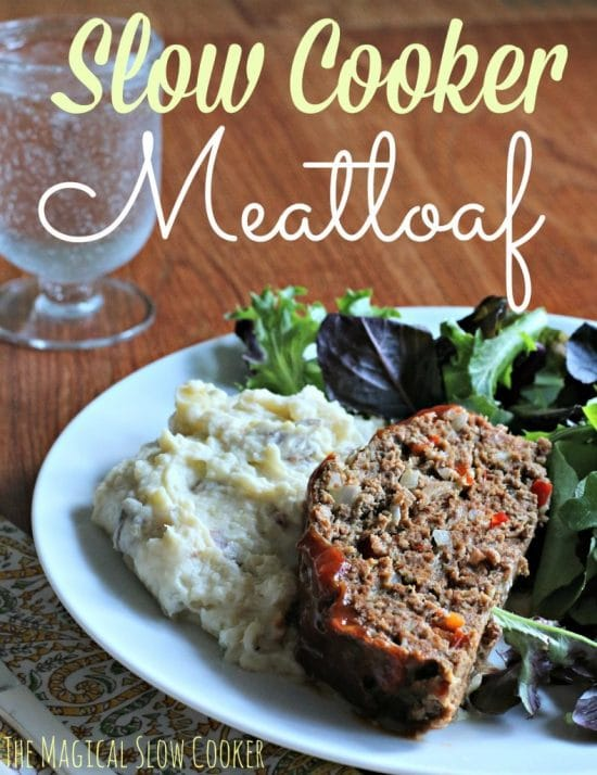 The BEST Slow Cooker Meatloaf from Food Bloggers featured on Slow Cooker or Pressure Cooker at SlowCookerFromScratch.com