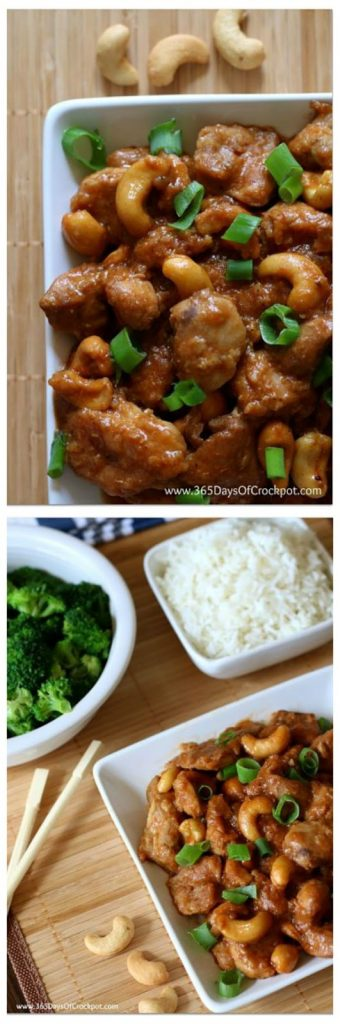 Slow Cooker Cashew Chicken from 365 Days of Slow Cooking featured on SlowCookerFromScratch.com