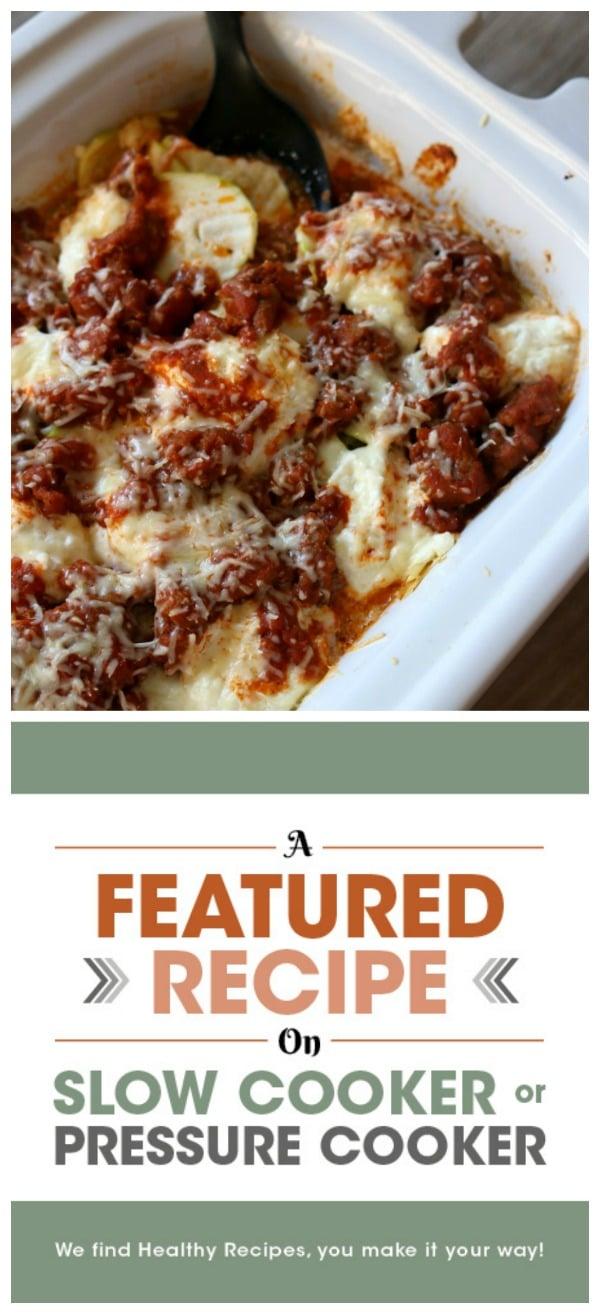 Slow Cooker Zucchini Noodle Lasagna