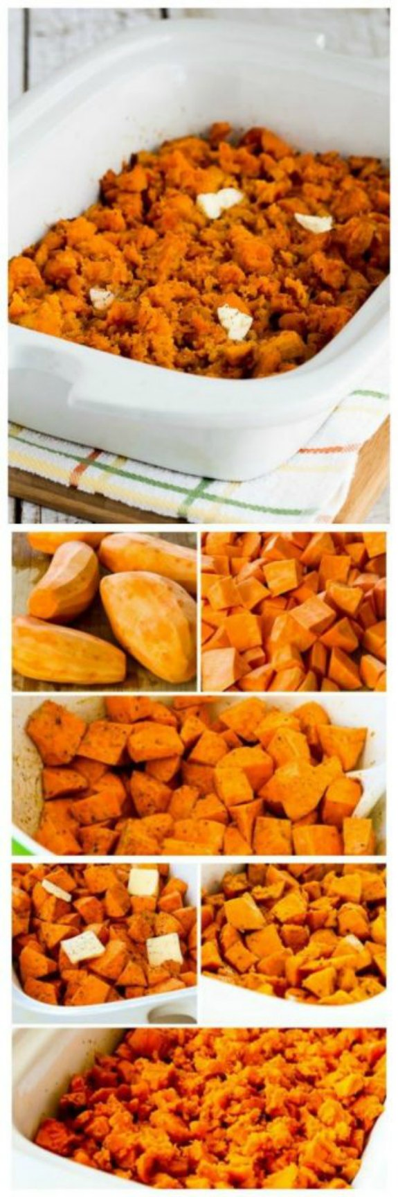 Slow Cooker Spicy Sweet Potatoes Recipe from Kalyn's Kitchen found on Slow Cooker or Pressure Cooker at  SlowCookerFromScratch.com