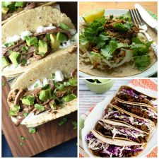 Three Must-Try Recipes for Salsa Verde Beef featured on Slow Cooker or Pressure Cooker at SlowCookerFromScratch.com