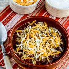 Pumpkin Chili with Ground Beef from Kalyn's Kitchen