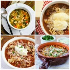 The Best Slow Cooker Soups with Pasta top photo collage