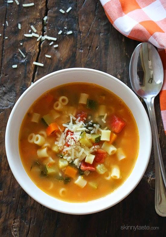 Crock Pot Vegetarian Minestrone Soup from Skinnytaste